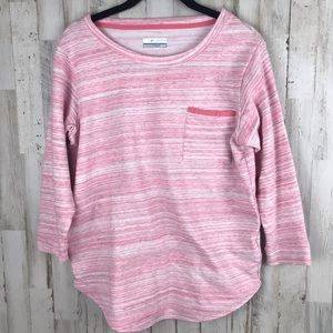 Columbia Heather Pink Pullover Top XS